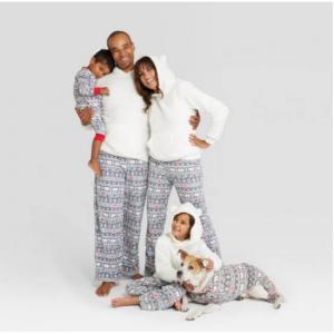 Holiday Fuzzy Bear Fair Isle Family Pajamas Collection - Wondershop™