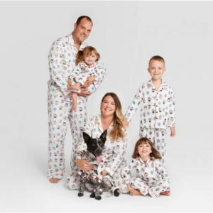 Holiday Festive Dogs Notch Collar Family Pajamas Collection - Wondershop™