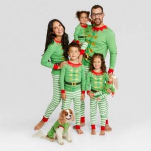 Holiday Elf Family Pajamas Collection - Wondershop™
