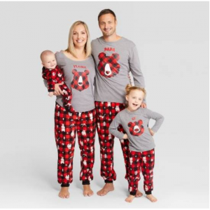 Holiday Bear Family Pajamas Collection - Wondershop™