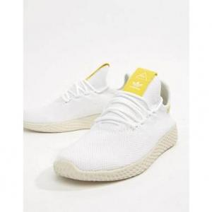 adidas Originals Pharrell Hu Trainers In White And Yellow