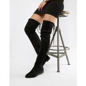 Truffle Collection Block Heel Over Knee Boots