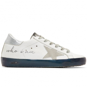 Golden Goose White Iridescent Sole Superstar Sneakers