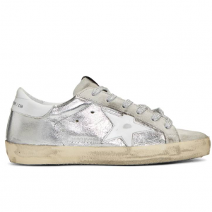 Golden Goose SSENSE Exclusive Silver & Grey Superstar Sneakers