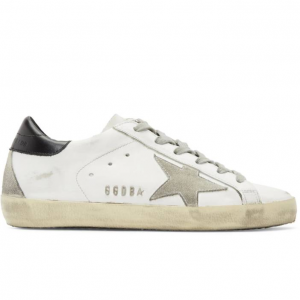 Golden Goose White & Black Superstar Sneakers