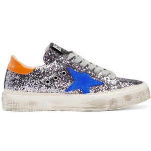 Golden Goose Grey Glitter May Sneakers