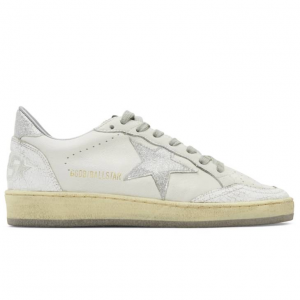 Golden Goose White & Silver Ball Star Sneakers