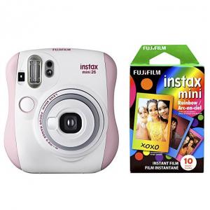 $30 off Fujifilm Instax Mini 26 + Rainbow Film Bundle - Pink/White @ Amazon