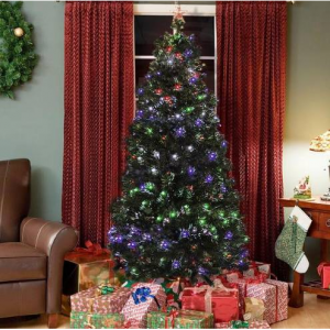 7ft Fiber Optic Artificial Christmas Pine Tree w/ 280 Lights, Stand