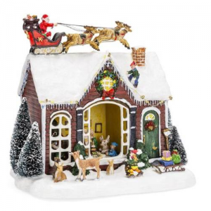 Pre-Lit Musical Tabletop Christmas Village Decoration