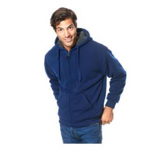 Mens Cross & Winsor Solid Full Zip Sherpa Lined Hoodie