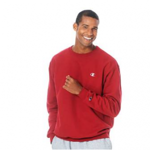 Mens Champion Crew Neck Fleece Sweatshirt