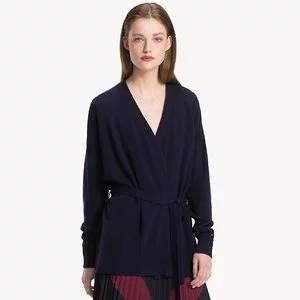 Tommy Hilfiger Wool Tie-Belt Cardigan Sweater