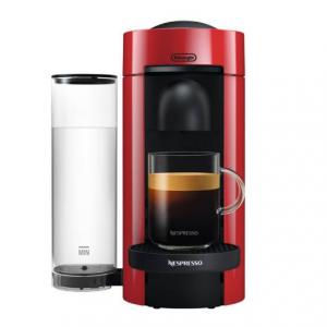 Nespresso VertuoPlus Coffee and Espresso Maker by De'Longhi, Red
