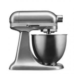 KitchenAid Artisan Mini 3.5 Quart Tilt-Head Stand Mixer, Contour Silver (KSM3311XCU)