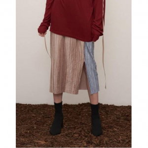 1159STUDIO Mh7 Color Point Velvet Skirt_Sb