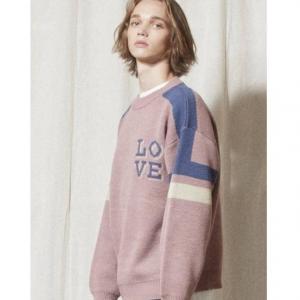 URBANDTYPE [Unisex] KN029 Love Line Sweater Indi Pink