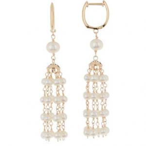 TARA Pearls 14K Yellow Gold 6mm Freshwater Cultured Pearl Earrings