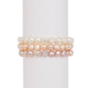 TARA Pearls 7-8mm Freshwater Pearl Stretch Bracelet Set