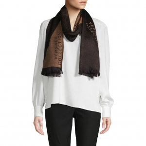Versace Collection Fringed Logo Scarf