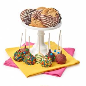 DYLAN'S CANDY BAR HAND-DIPPED CAKE POPS & CHOCOLATE DIPPED GOURMET COOKIES