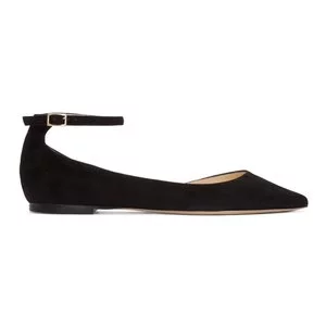 Jimmy Choo Black Suede Lucy Ballerina Flats