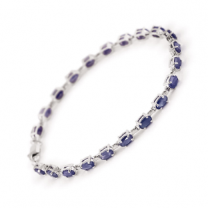 Sapphire Infinite Tennis Bracelet 8 ctw in 9ct White Gold