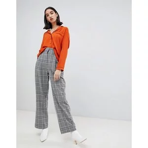 ASOS DESIGN pyjama style long sleeve shirt with piping