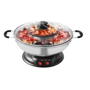 SONYA Electric Shabu Shabu Hot Pot with Non Stck BBQ Grill SYHS-4L