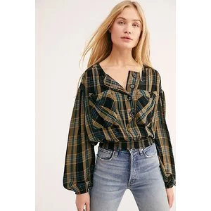 It's The Good Life Plaid Top