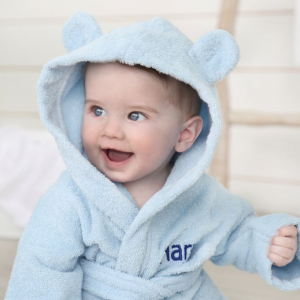 My 1st Years Personalized Blue Hooded Towelling Robe