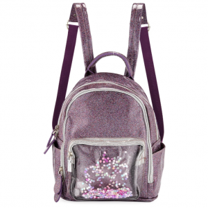Bari Lynn Girls' Sparkle Backpack w/ Floating Confetti Front Pocket