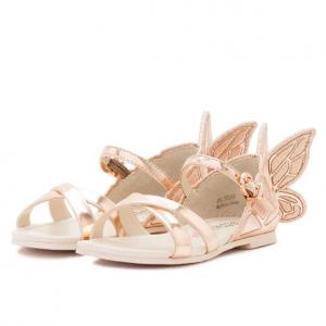 Sophia Webster Chiara Metallic Butterfly Sandal, Toddler/Youth Sizes 5T-3Y