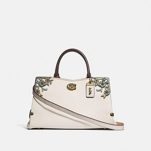 Mason Carryall With Metal Tea Rose CHALK/BRASS