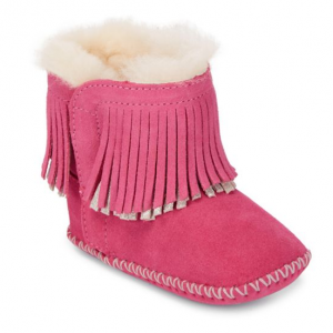 Ugg Baby Girl's Branyon Suede Fringe Bootie