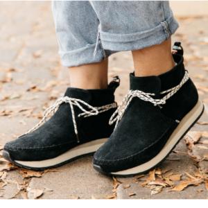 Black Suede Women's Rio Sneakers