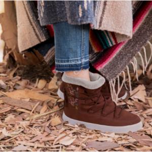 Dark Amber Suede Women's Alpine Boots