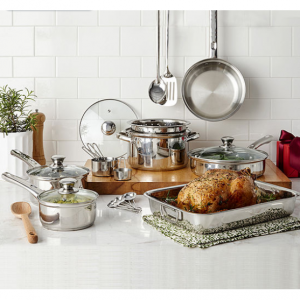 Cooks Stainless Steel 21-pc. Cookware Set