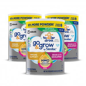 40% off Go & Grow by Similac Non-GMO Toddler Milk-Based Drink, Powder, 3 count @ Amazon