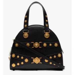 Versace Black Embellished Medusa Tote