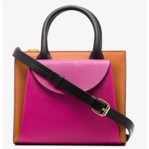 Marni Multicolour Leather Two-Tone Tote Bag