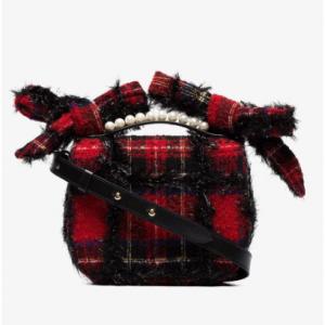 Simone Rocha Red Tartan Shoulder Bag