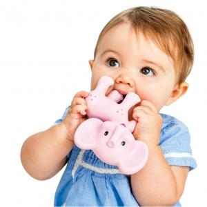 Infantino Go GaGa Squeeze & Teethe Elephant - Pink Kiki