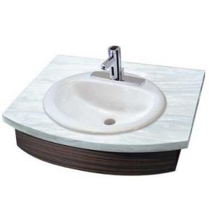 Oval Drop In Lavatory Sink, Single Hole