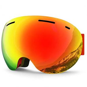 Zionor XA Ski Snowboard Snow Goggles for Men Women Anti-fog UV Protection Spherical Dual Lens Desi
