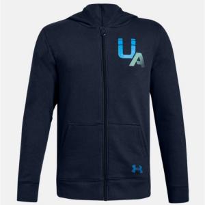 UA Rival Logo Full Zip Boys' Hoodie