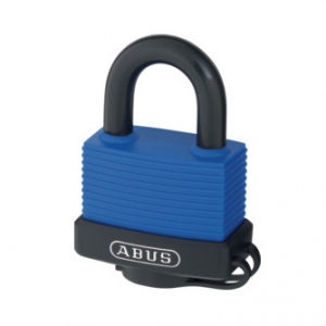 Abus 70IB/45C Blue Hardened Steel Marine Key Padlock - 45mm