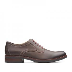 Maxton Plain Mens Shoes Dark Brown Leather