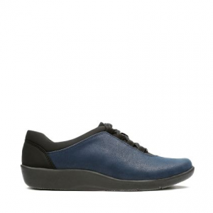 Sillian Pine Womens Shoes Navy Synthetic