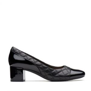 Tealia Sera Womens Shoes Black Combi Leather